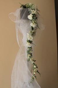 Bride dress flowers